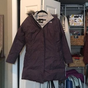 Dark Purple North Face Goose Down Winter Jacket